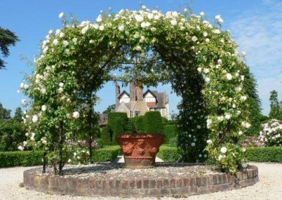 Rose Pergola to House - The Rose Garden - Loseley House
