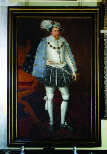 John de Critz Portrait of King James - Loseley House
