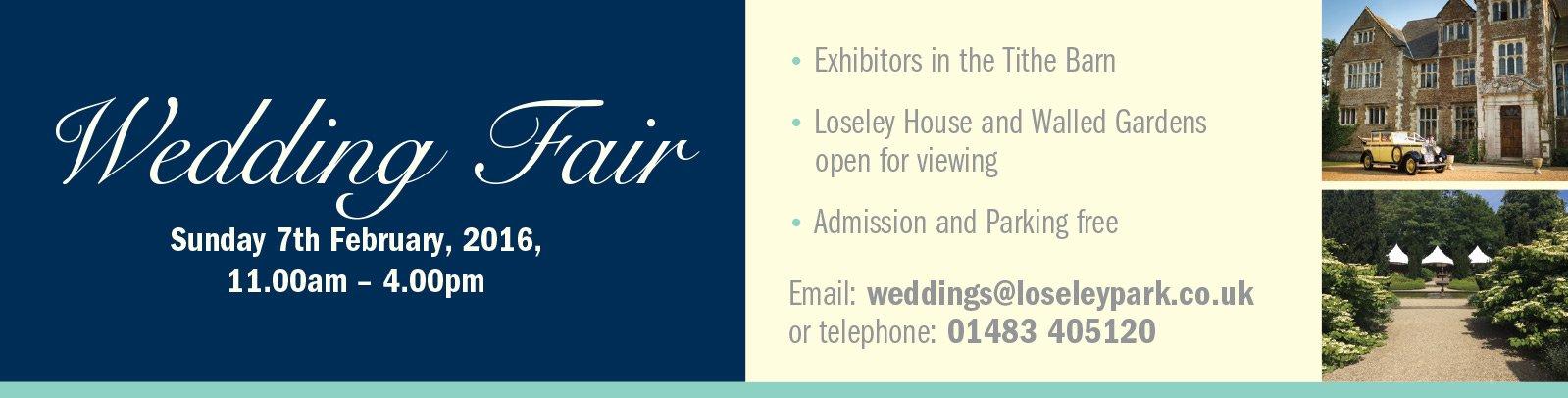 Wedding Fair - Sunday 7th February 2016